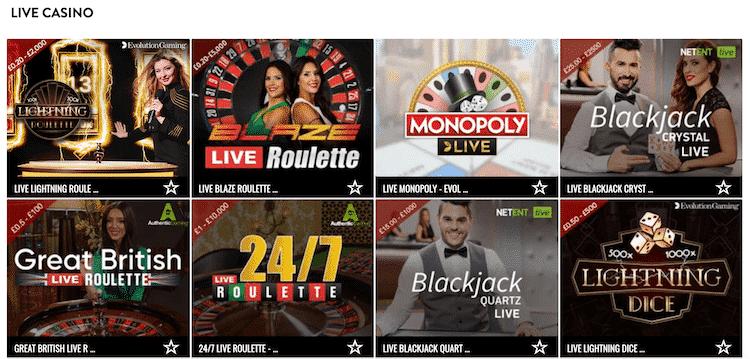 Aspers Live Casino