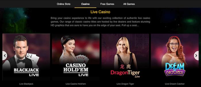 Starspins Live Casino