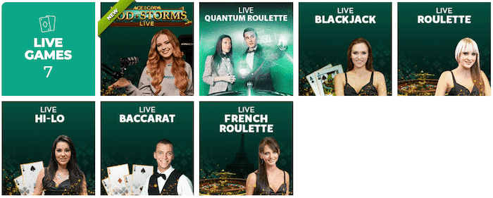 Vegas Luck Live Casino