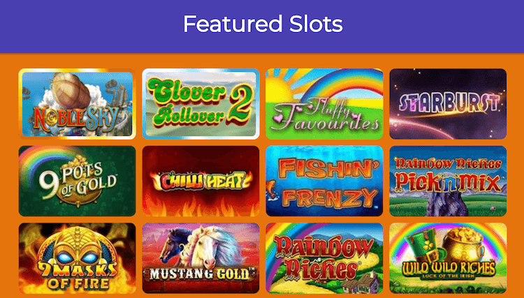 Aladdin Slots Featured Games