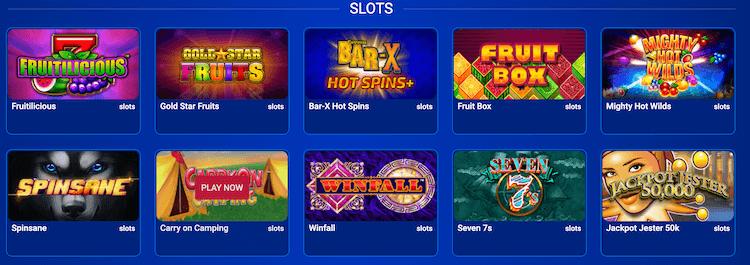 All British Casino Slots Offering