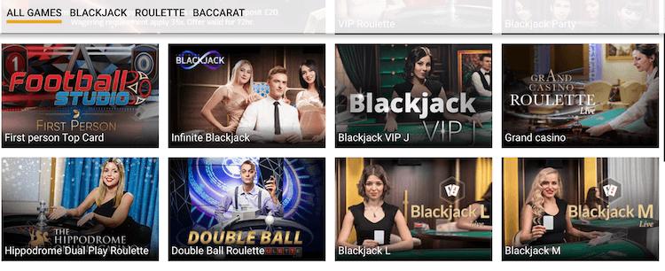 CampeonUK Live Casino