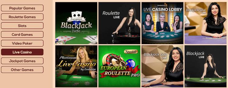 Queen Vegas Live Casino