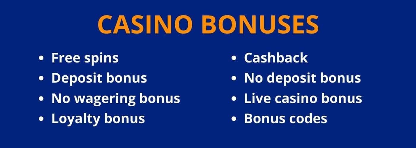 Types of Casino Bonus