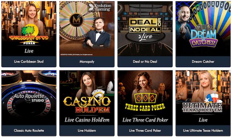 Jonny Jackpot Live Casino Games