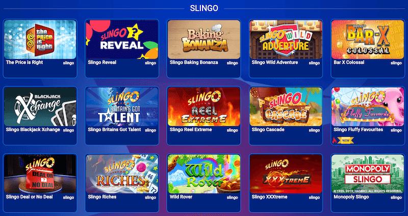 Slingo All British casino