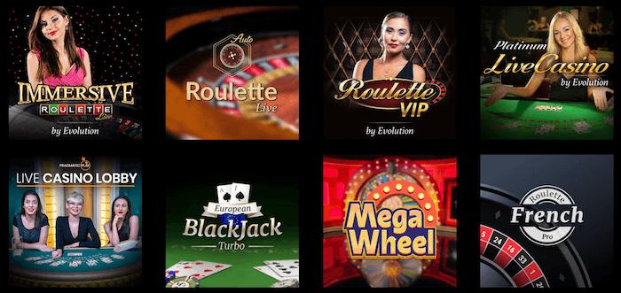 Mega Casino Live Dealer Games