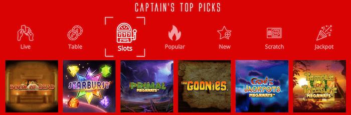 Captain Spins Slot Games