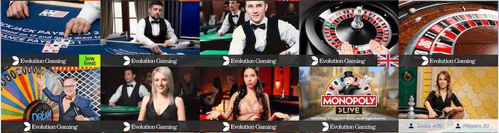 Race Casino Live Games