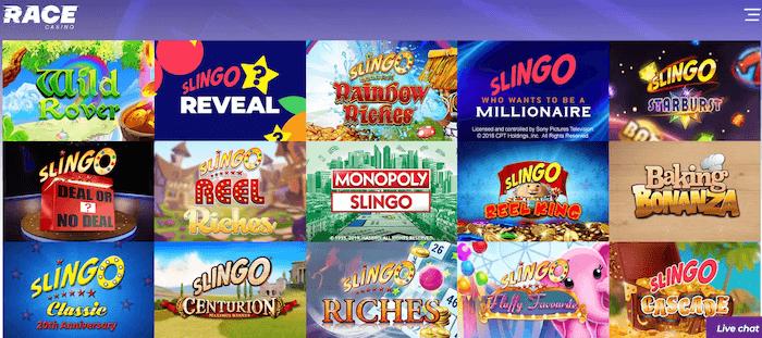 Race Casino Slingo